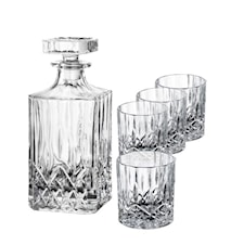 Harvey Whiskykaraffel samt 4 Whiskyglass