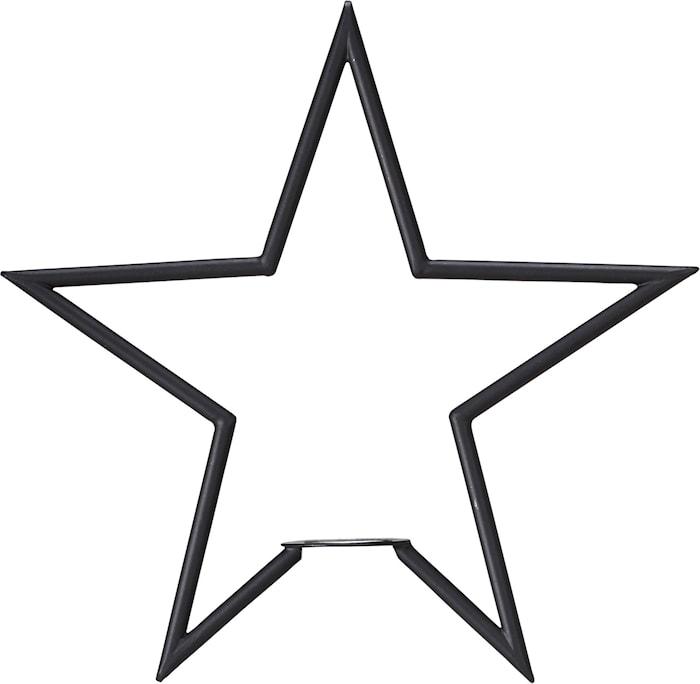 Tindra Stjärna Matt Svart 35cm