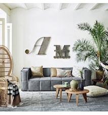 Sofabord Genbrugt træ L:80 W:80 H:30 cm