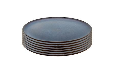 Raw Middagstallerken Midnight Blue 6 stk. 28 cm