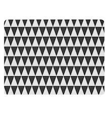Pöytätabletti 40x30 Kumi musta/valkoinen