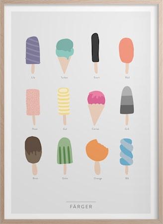 Färger Poster 50x70 cm