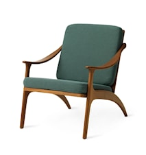 Lean Back Lounge Chair Dark Cyan Teak