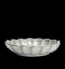Østersskål Stor Grå 31 cm