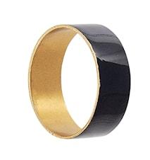 Amira Servettring Blå/Guld Ø4,5cm