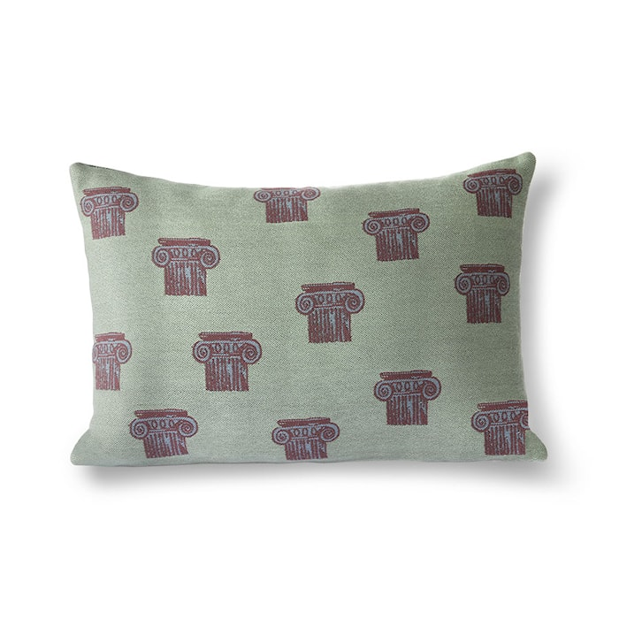 Jacquard Weave Greek Column Cushion 35x55 cm