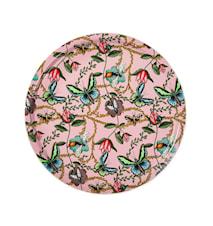 Vassoio Nadja Wedin Design 65 cm Bugs & Butterflies rosa