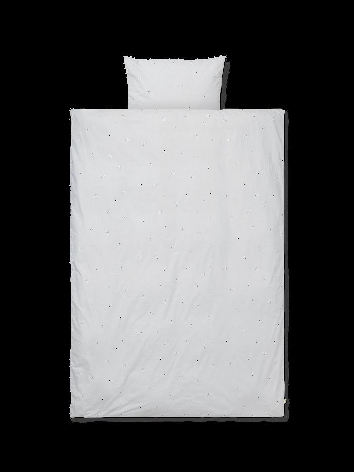 Dot Embroidery Bäddset Ljusgrå