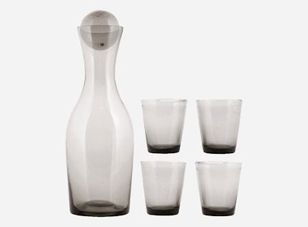 Set Houston Karaff + 4 glas Grå