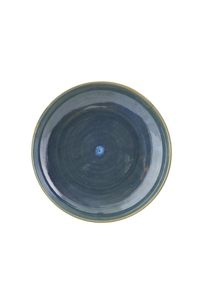 Tallerken Nord Ø 22x5 cm - Blå/grønn