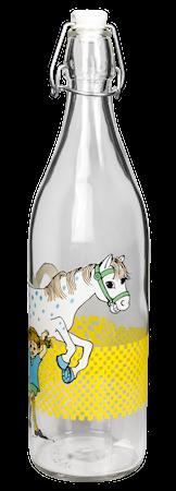 Pippi Långstrump Glasflaska 1 L Klar