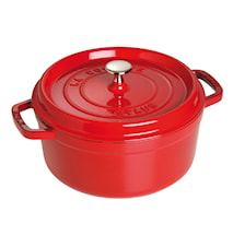 Casserole Round Cast Iron Red 24 cm 3.8 L