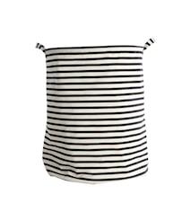 Opbevaringskurv Stripes 30x30 cm - Sort/Hvid