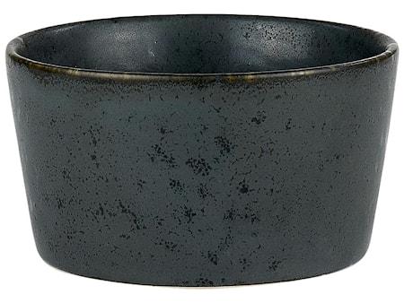 Ramekiini Ø11 H6 kivitavaraa musta