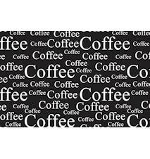 Table Mat Coffee Black / White 44 x 28.5 cm