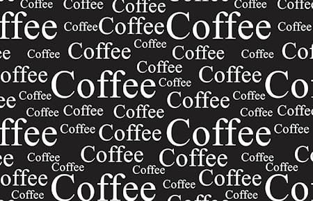 Dækkeserviet - Coffee - PP - Sort - Hvid - L 44,0cm - B 28,5cm - Stk.