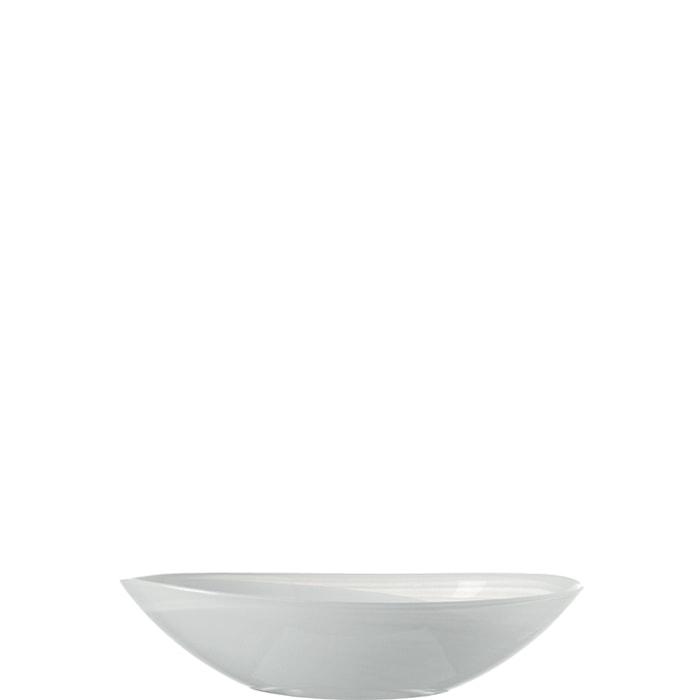 Bowl oval 22 white Alabastro