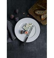 Plissé tallerken flad hvid, Ø 22 cm