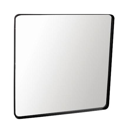 Väggspegel svart ram 40x40 cm