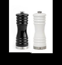 Munchen Suola- ja pippurimyllysetti valkoinen/musta 15 cm