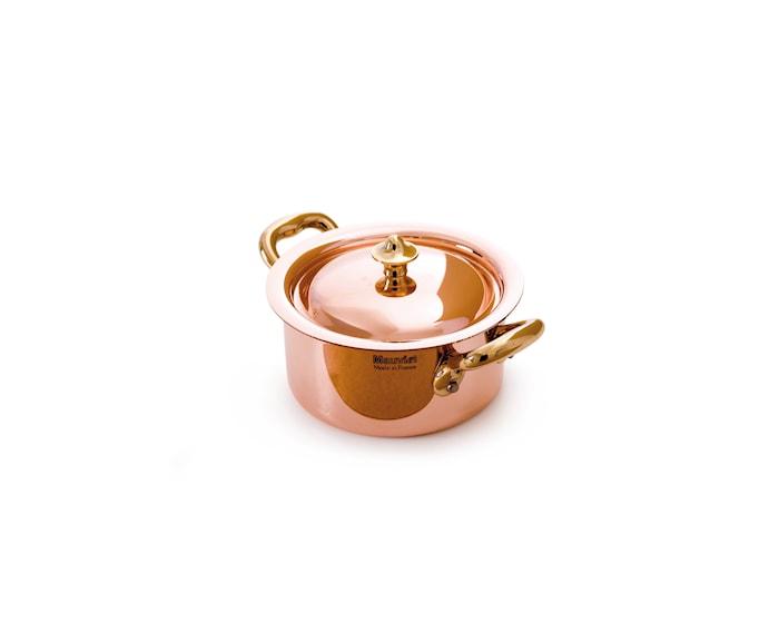 M'150b Gryde Mini Ø9cm kobber/stål/bronce