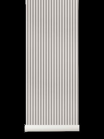 Thin Lines Tapet Grå