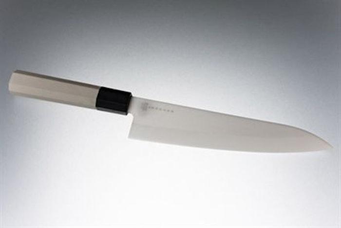 Keramisk kokkekniv 18 cm hvit