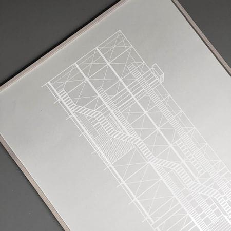 Pompidou Poster-harmaa