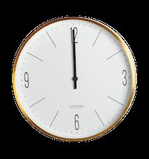 Clock Couture Vægur Guld/Hvid 30 cm